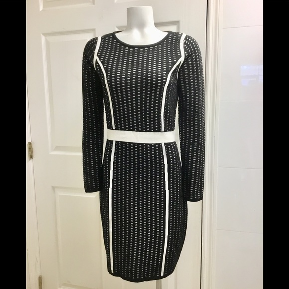 Calvin Klein Dresses & Skirts - Calvin Klein black and white Knit dress size S